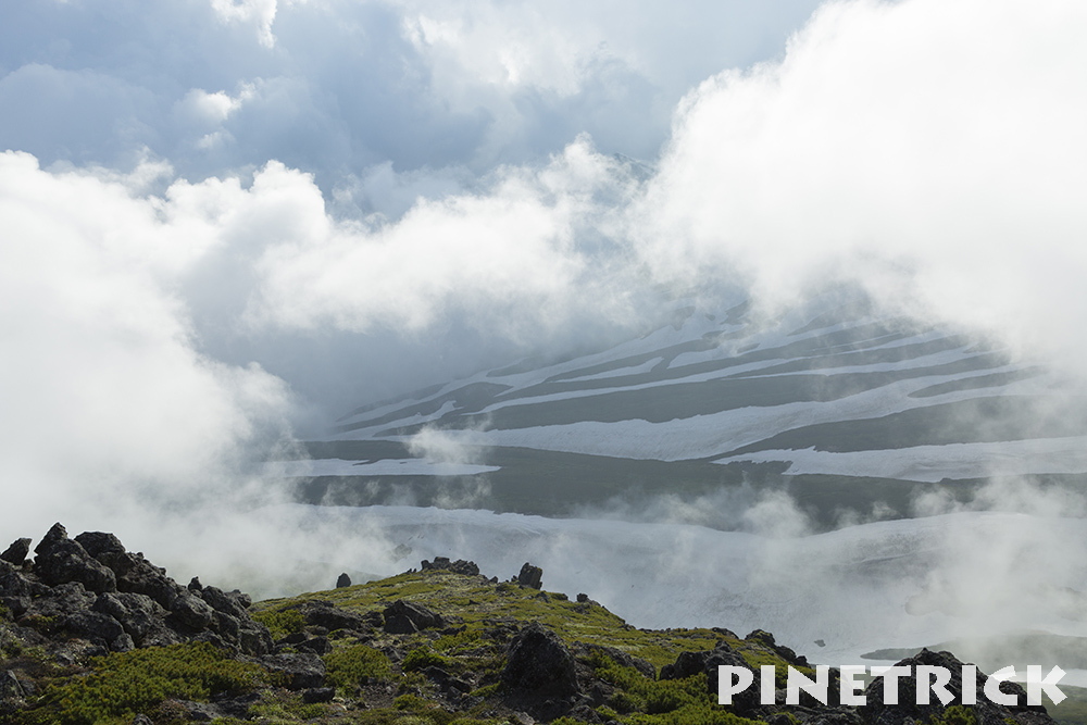 白雲岳ゼブラ雪渓
