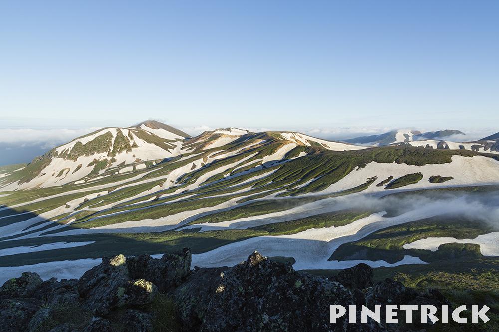 白雲岳 ゼブラ雪渓