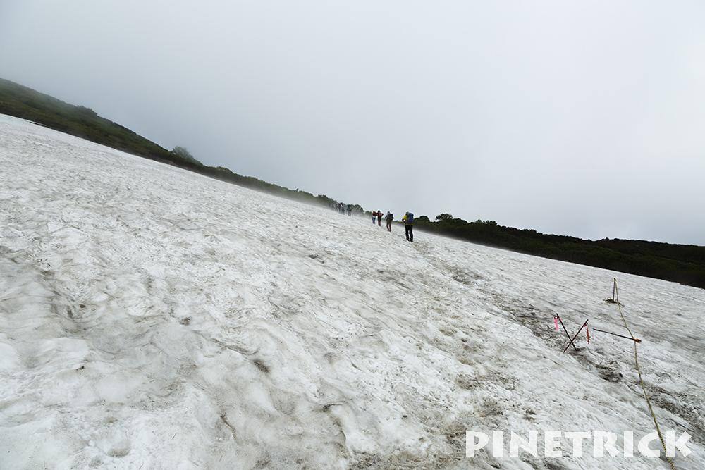 赤岳登山道 雪渓
