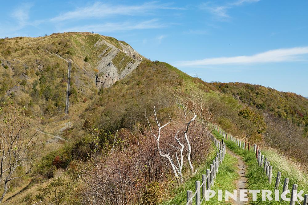 有珠山登山道 遊歩道 階段
