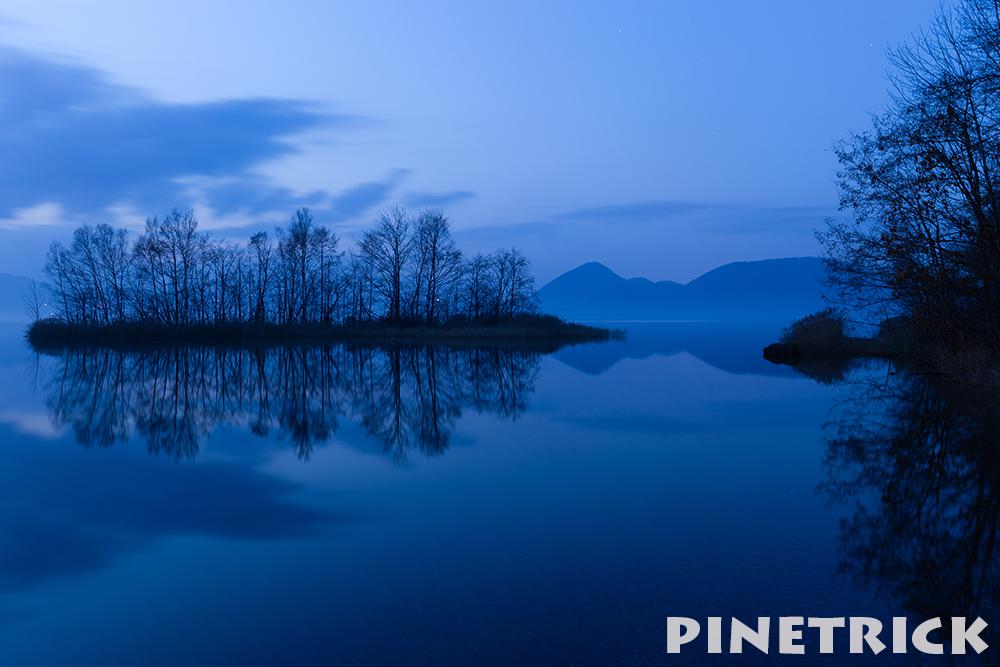 洞爺湖 日没後