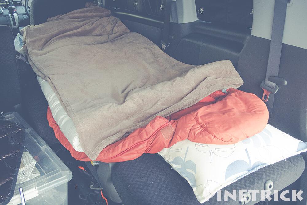 車中泊 寝袋