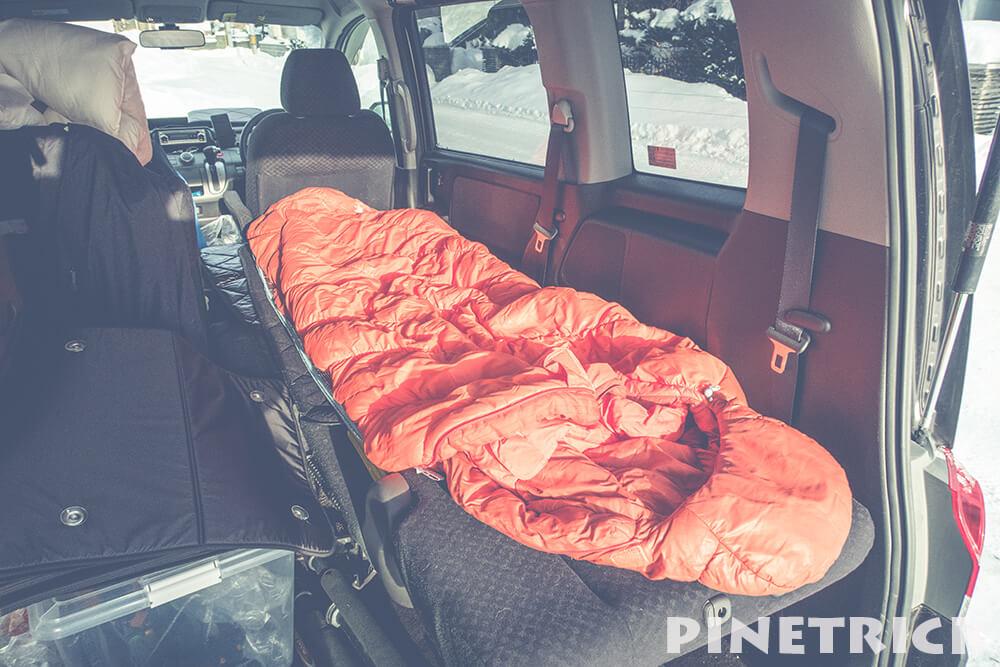 車中泊 寝袋 モンベル バロウバッグ