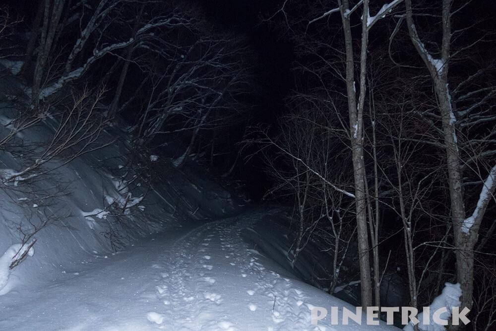 漁岳 登山道 トレース