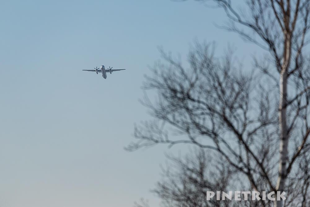 新千歳空港 プロペラ機 飛行機