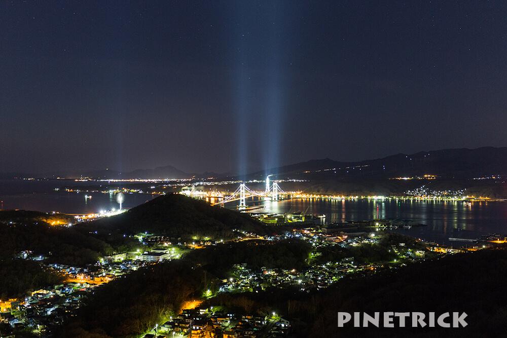 室蘭市 測量山 白鳥大橋 観光名所 夜景 室蘭八景