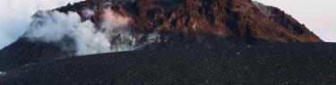 樽前山 溶岩ドーム 苫小牧市 噴煙