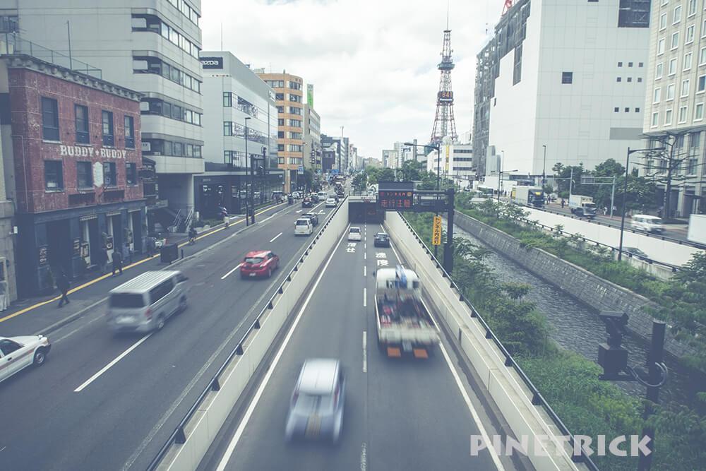 帰宅ラン 歩道橋 札幌市