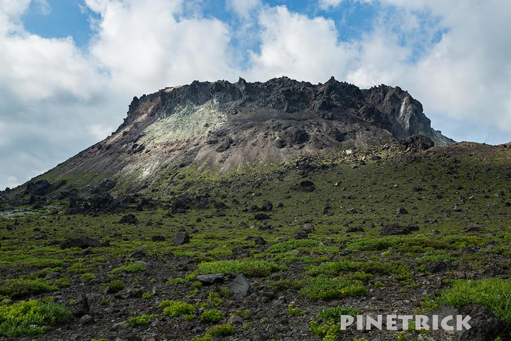 樽前山 溶岩ドーム 噴煙