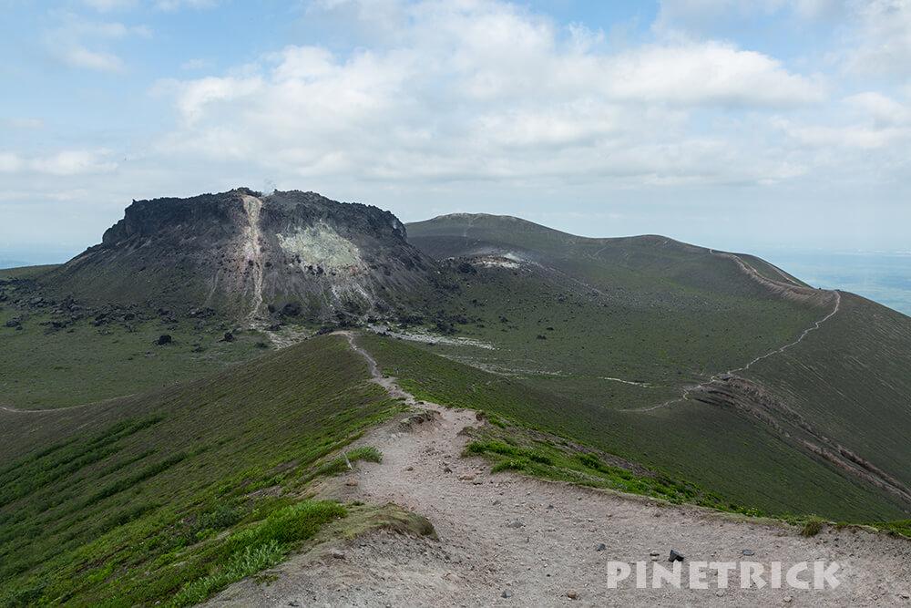 樽前山 西山 溶岩ドーム 登山道