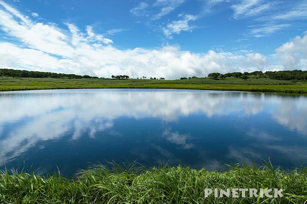 雨竜沼湿原 シンメトリー