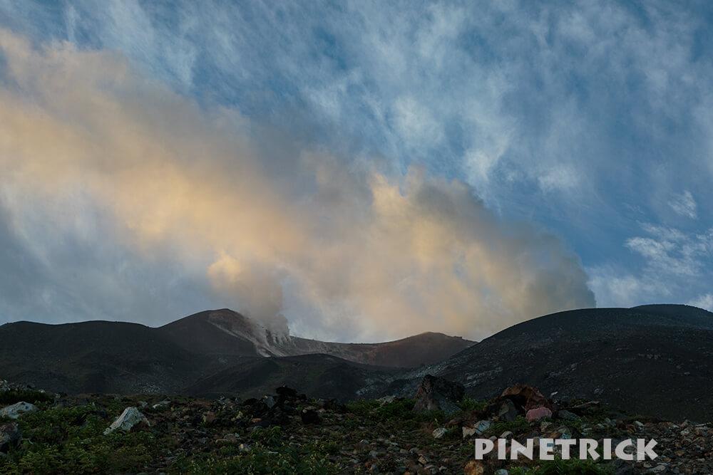 十勝岳 噴煙 噴火 望岳台