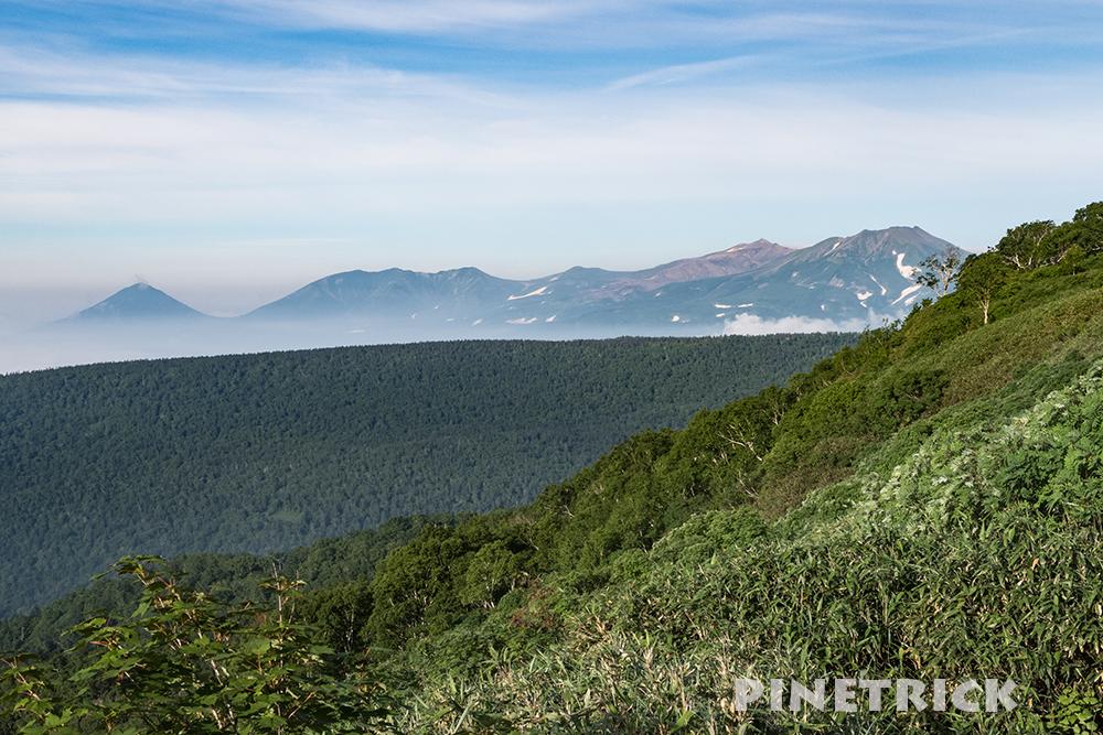 十勝岳連邦 短縮登山口 トムラウシ山