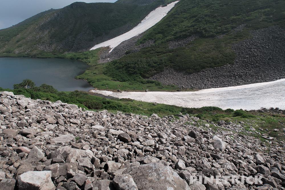 ヒサゴ沼 雪渓