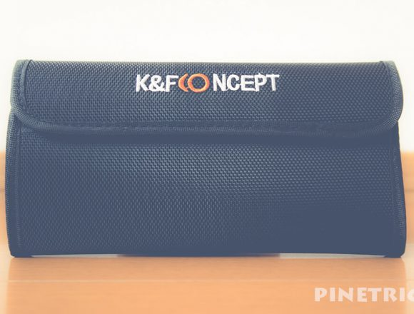 K&F Concept フィルターケース 4枚用 77mm フィルターポーチ