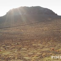 樽前山 溶岩ドーム 噴煙 太陽 苫小牧市