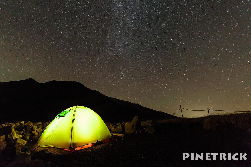 テント 裏旭キャンプ指定地 天の川 マウンテンダックス