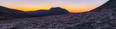 白雲岳 日の出 オレンジ 裏旭キャンプ指定地