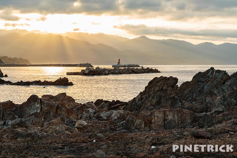 朝日 日の出 灯台