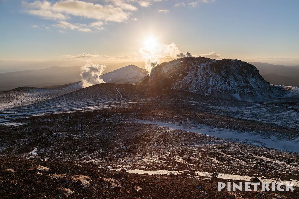 樽前山 溶岩ドーム 苫小牧市 西山 夕日 サンセット 登山
