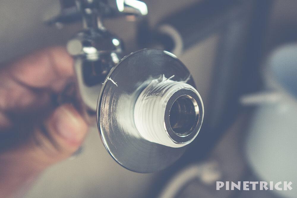 蛇口 水栓 水漏れ 修理 シールテープ