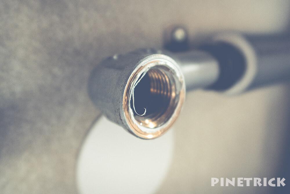 蛇口 水栓 水漏れ 修理 シールテープ ごみ