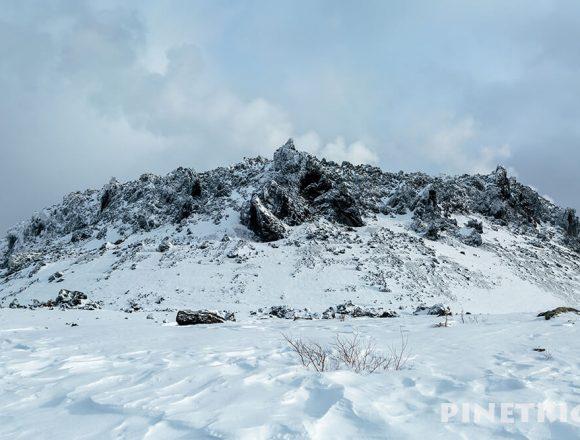 樽前山 溶岩ドーム 山スキー 支寒内