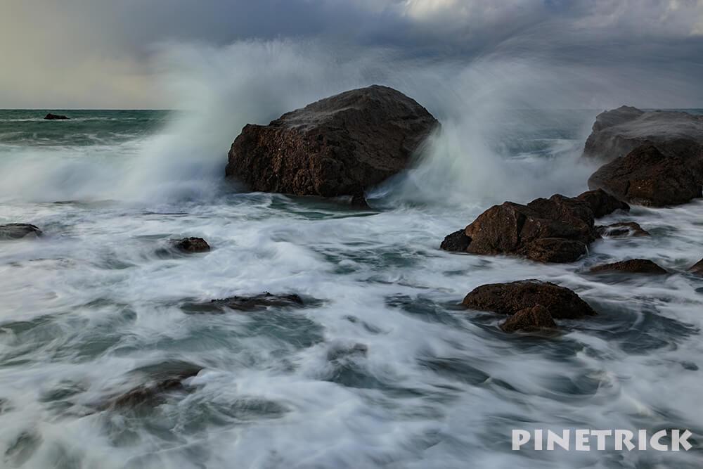 岩 海 波 スローシャッター