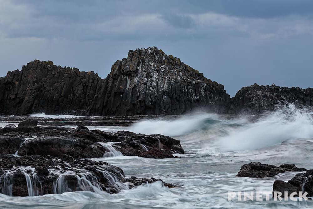 海 岩 波 スローシャッター