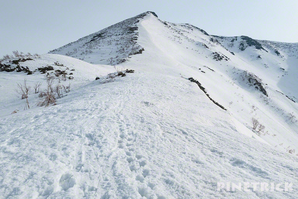 ニセコアンヌプリ 冬山 登山 アイゼン スノーシュー スキー ボーダー