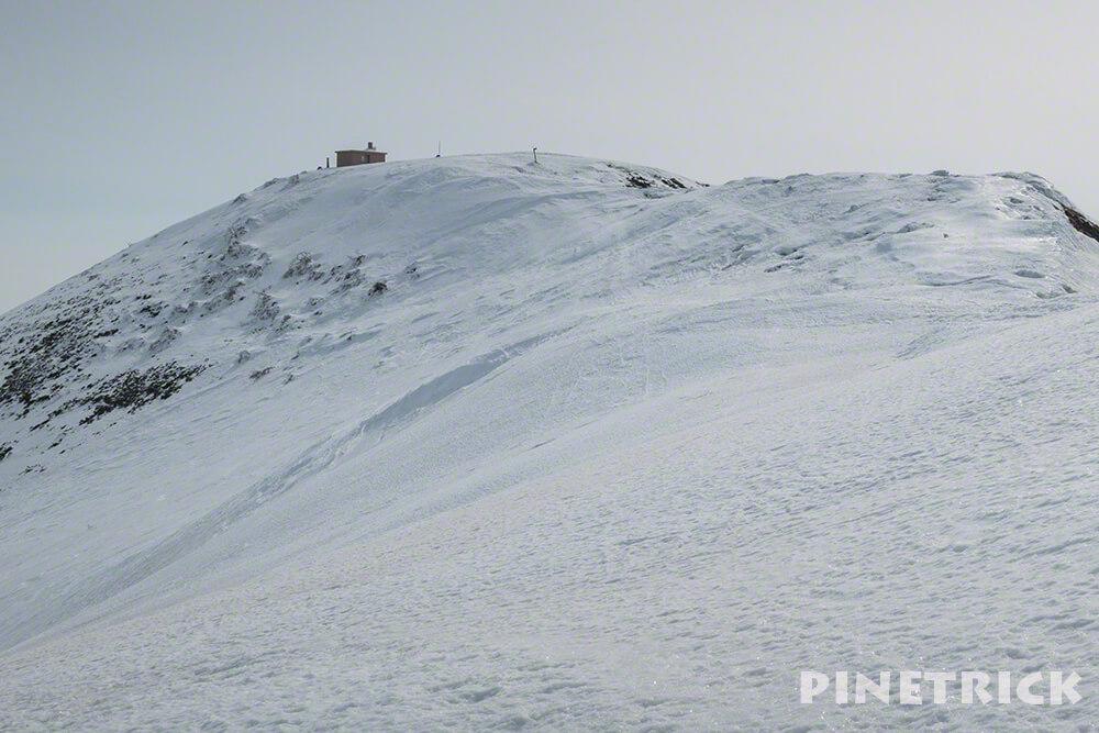 ニセコアンヌプリ 避難小屋 冬山 アイゼン 山頂 登山