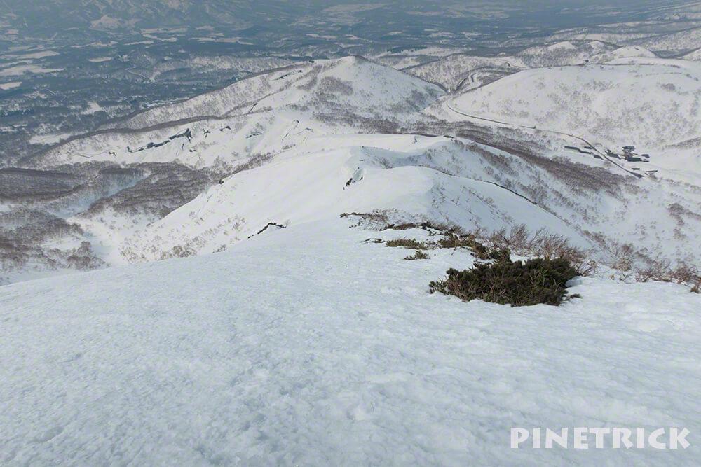 ニセコアンヌプリ 冬山 登山 スノーシュー アイゼン