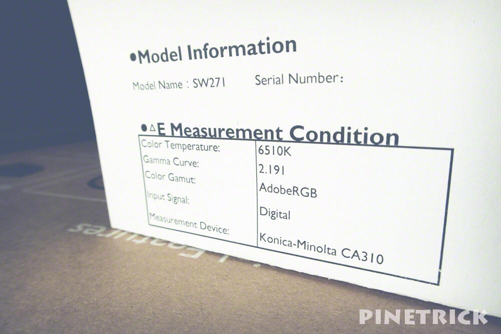 BenQ SW217 4Kカラーマネジメントモニター キャリブレーション 6500k 2.2 ガンマ 色温度 4kディスプレイ