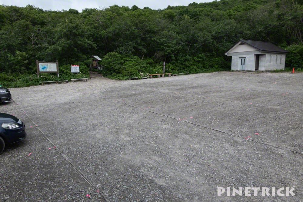 樽前山 7号目登山口 駐車場 北海道 登山