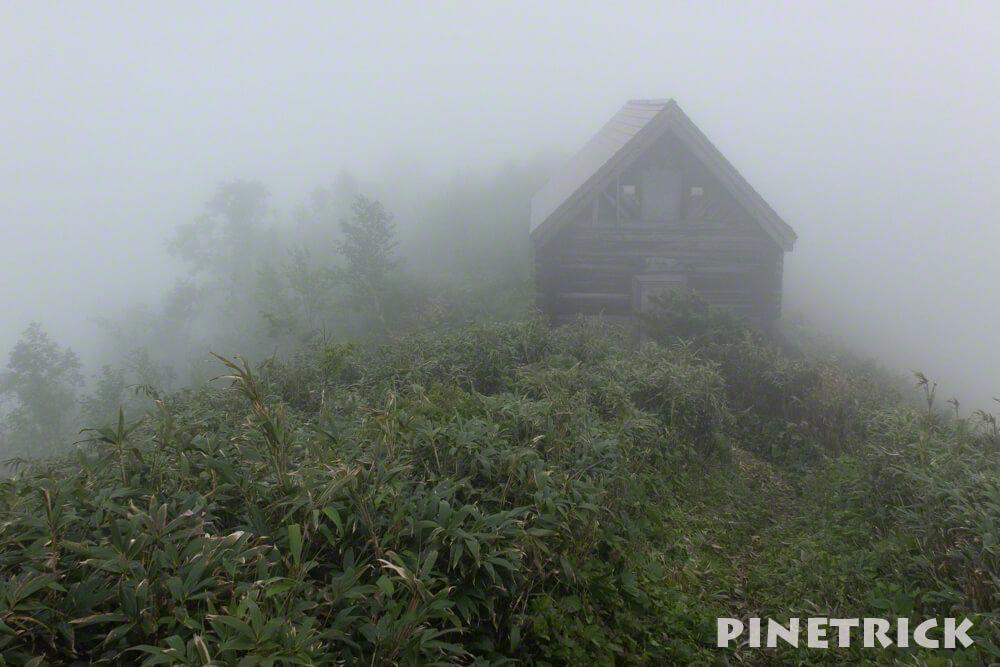 神居尻山 登山 避難小屋