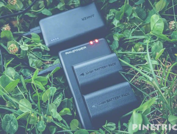 バッテリーパック RAVPower LP-E6 LP-E6N 互換バッテリー microUSB 急速充電