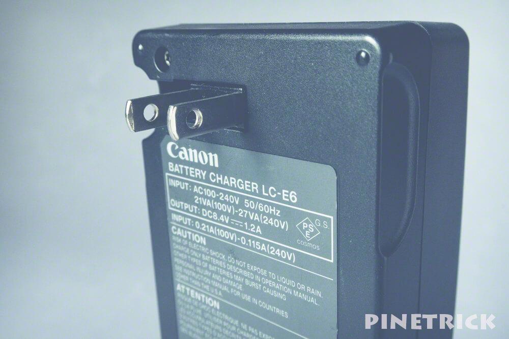 バッテリーチャージャー LC-E6 canon
