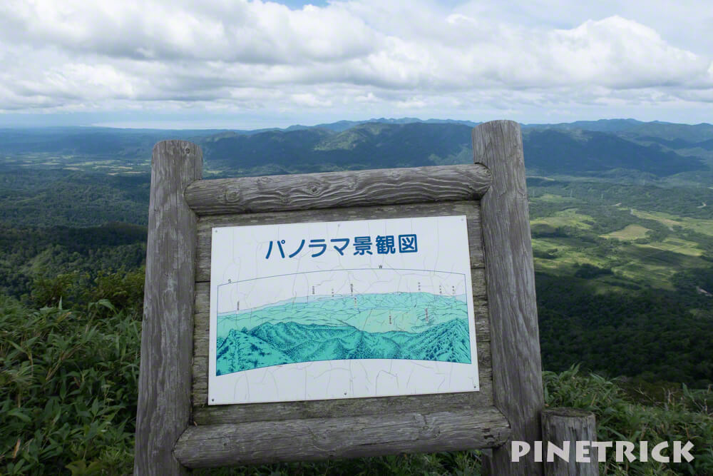 神居尻山 登山 BコースCコース分岐 パノラマ景観図