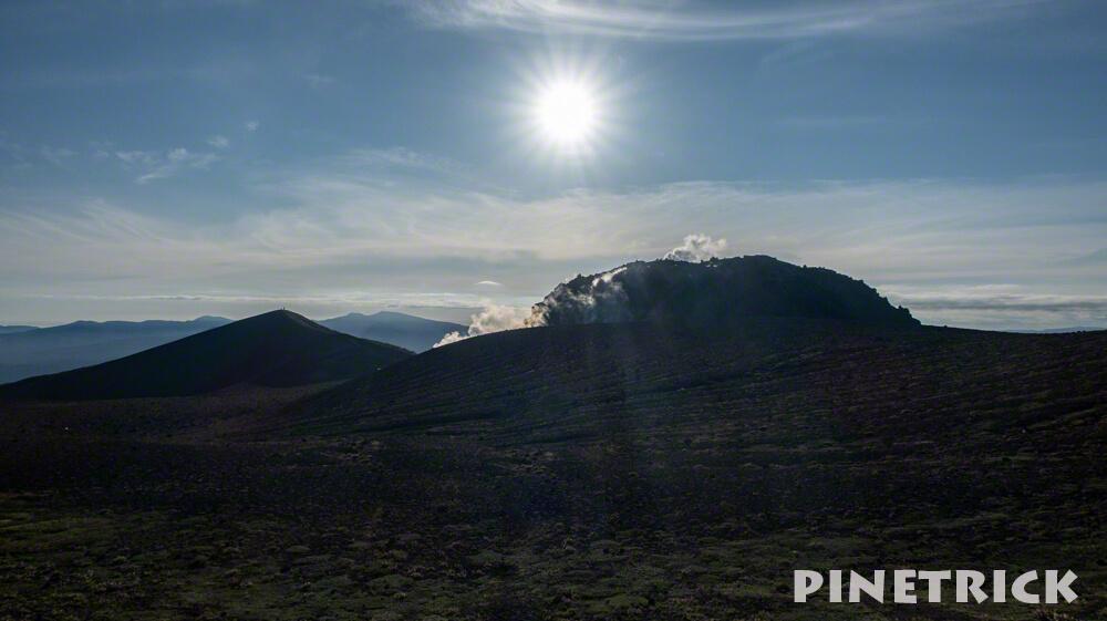 樽前山 溶岩ドーム 噴煙 登山 二百名山