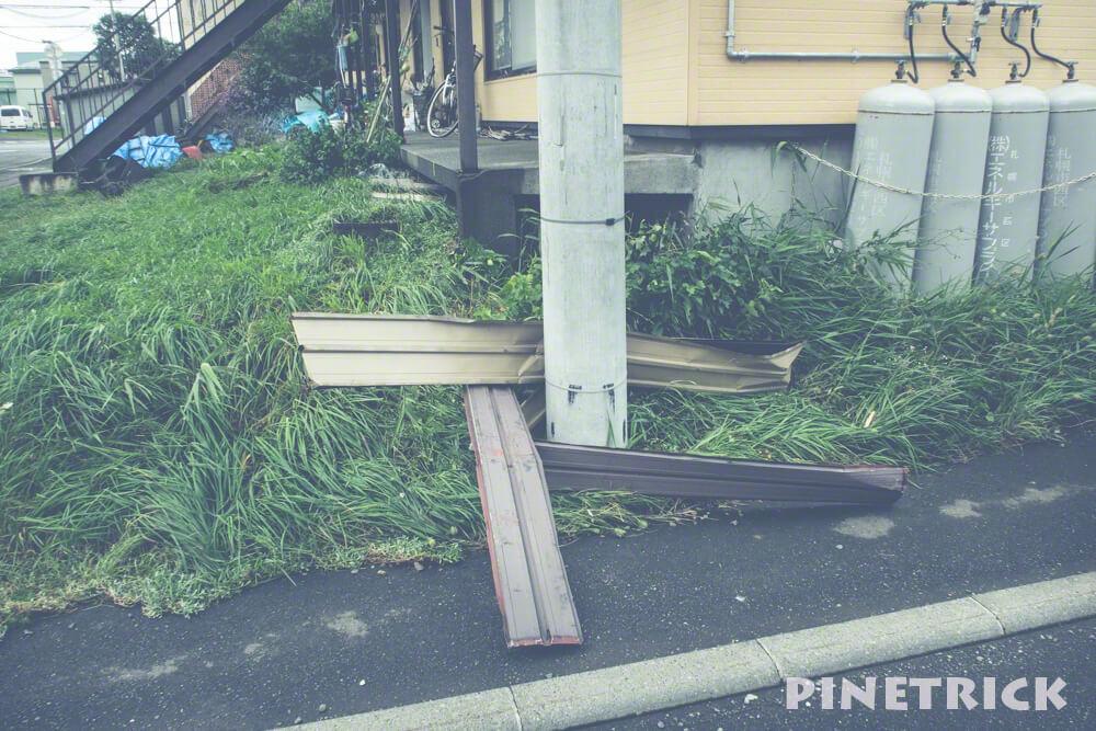 台風21号 暴風雨 札幌市 9月4日