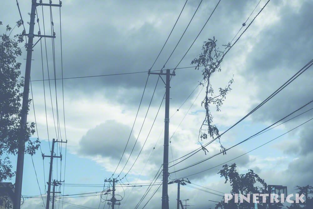 台風21号 札幌市 暴風雨 電線 電柱 倒木 9月4日