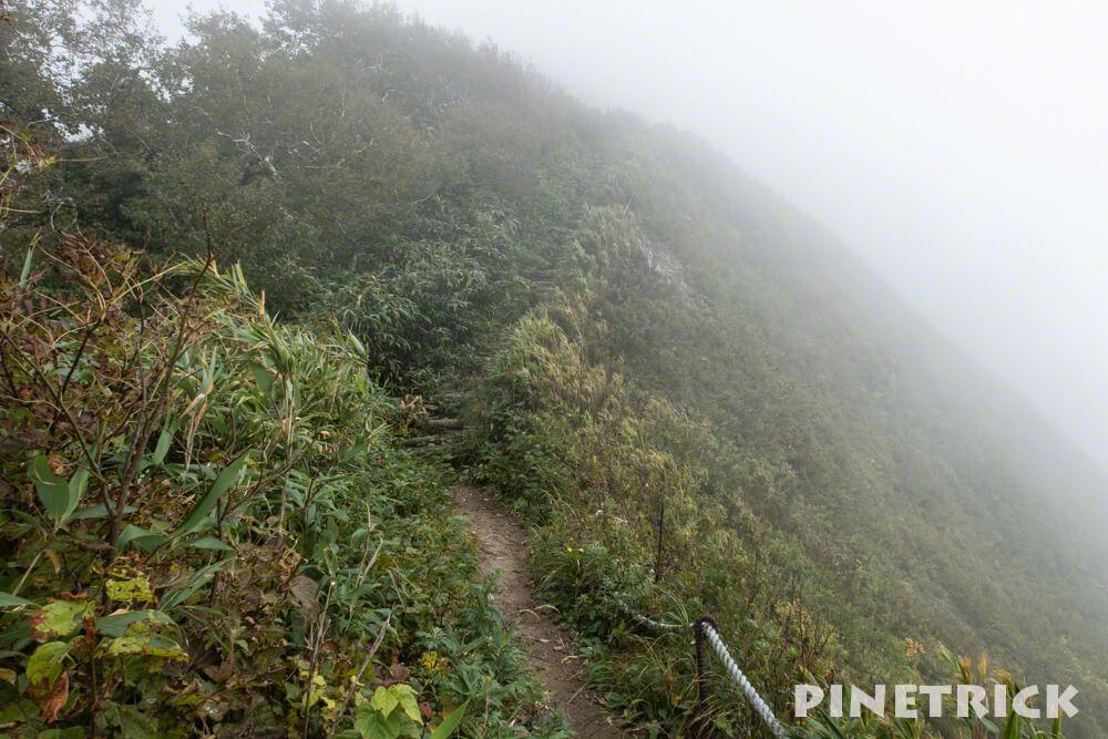 神居尻山 登山 Bコース 稜線
