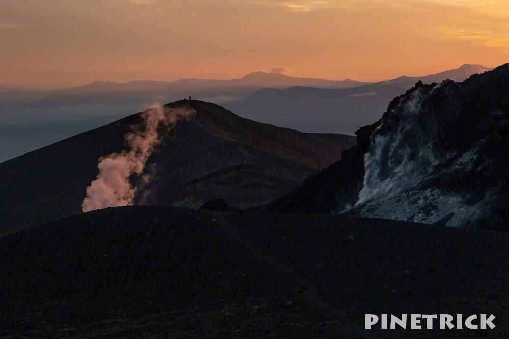 西山 溶岩ドーム 樽前山 夕日