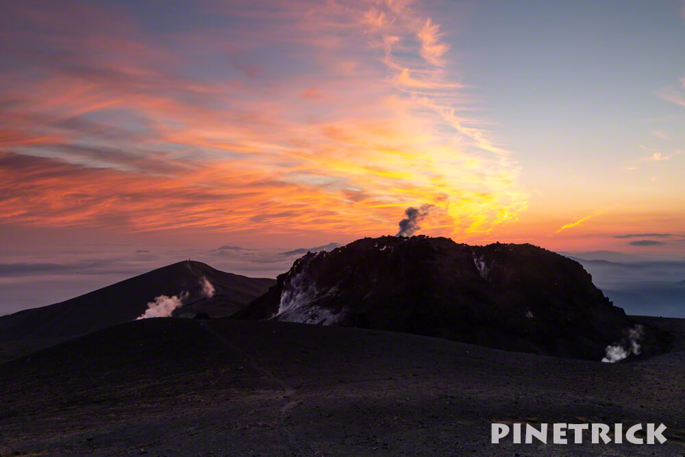 樽前山 溶岩ドーム 西山 夕日 登山 200名山