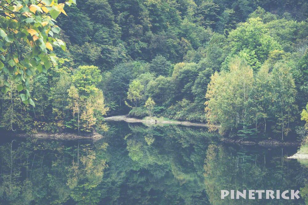 定山渓 さっぽろ湖 シンメトリー 定山渓ダム