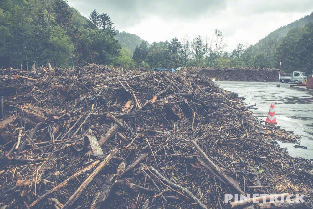 定山渓ダム 流木 無料配布 薪ストーブ