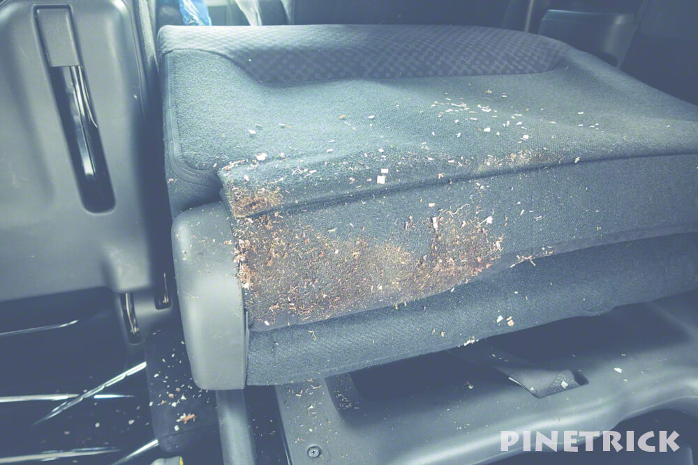 ステップワゴン 車内 汚れ 木くず 泥汚れ