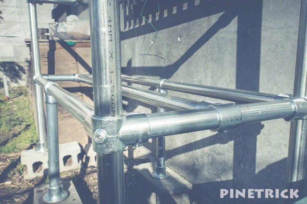 薪棚 単管パイプ 48.6mm diy