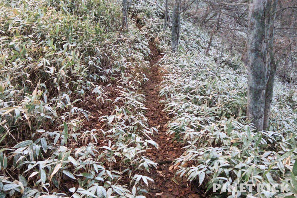 風不死岳 登山 雪 粉雪 11月
