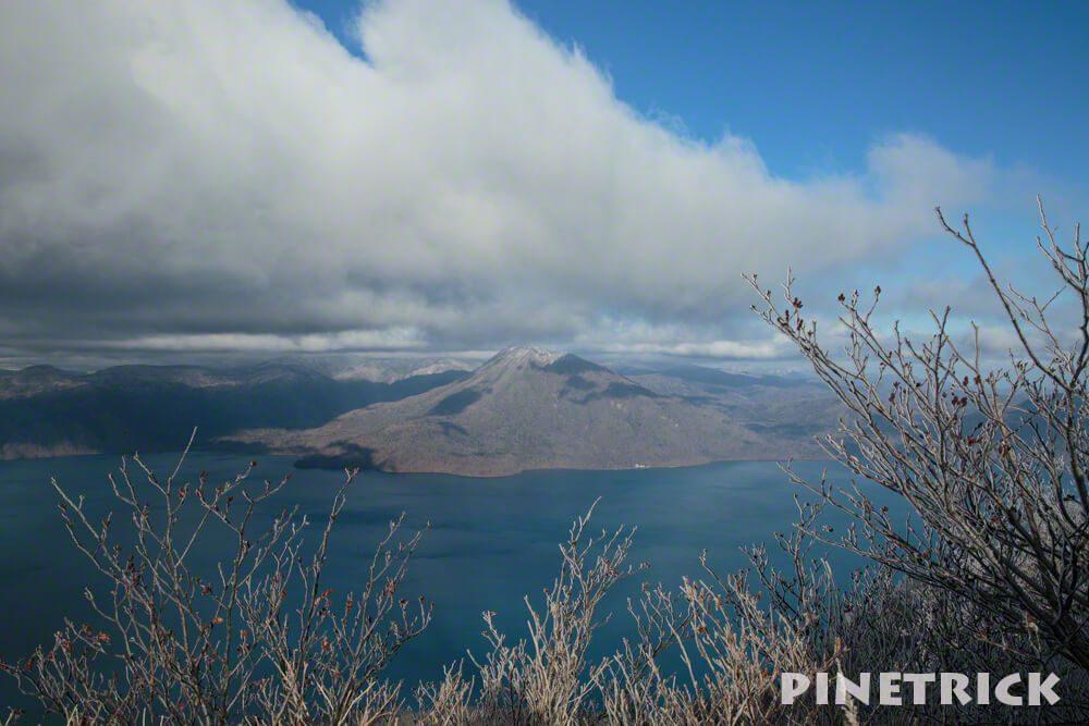 風f死岳山頂から 恵庭岳 支笏湖 11月